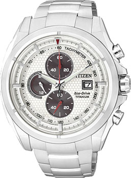 Японские наручные  мужские часы Citizen CA0550-52A. Коллекци Super Titanium