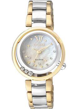 Японские наручные  женские часы Citizen EM0326-52D. Коллекция Eco-Drive