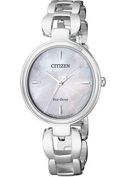 Японские наручные  женские часы Citizen EM0420-89D. Коллекция Eco-Drive