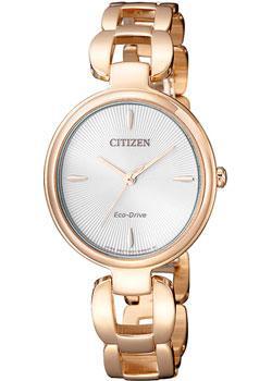 Японские наручные  женские часы Citizen EM0423-81A. Коллекция Eco-Drive