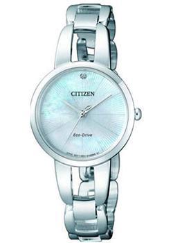 Японские наручные  женские часы Citizen EM0430-85N. Коллекция Eco-Drive