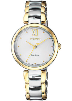 Японские наручные  женские часы Citizen EM0534-80A. Коллекция Eco-Drive