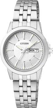Японские наручные  женские часы Citizen EQ0601-54AE. Коллекция Basic