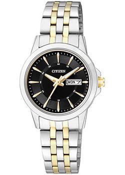 Японские наручные  женские часы Citizen EQ0608-55EE. Коллекция Classic