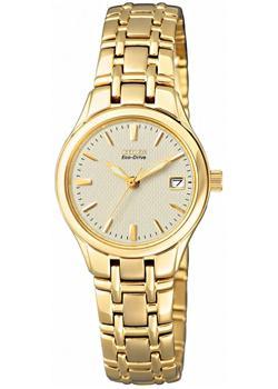 Японские наручные  женские часы Citizen EW1262-55P. Коллекци Eco-Drive
