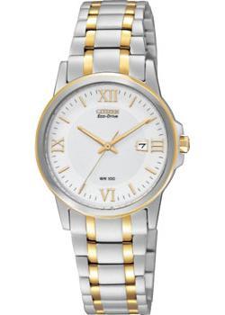 Японские наручные  женские часы Citizen EW1914-56A. Коллекция Eco-Drive