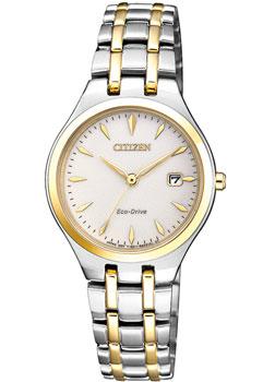 Японские наручные  женские часы Citizen EW2484-82B. Коллекция Eco-Drive