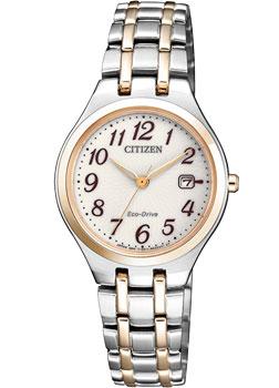 Японские наручные  женские часы Citizen EW2486-87A. Коллекция Eco-Drive
