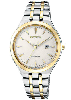 Японские наручные  женские часы Citizen EW2494-89B. Коллекция Eco-Drive