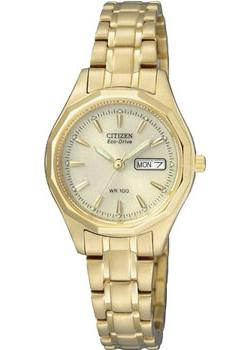 Японские наручные  женские часы Citizen EW3142-56PE. Коллекция Eco-Drive