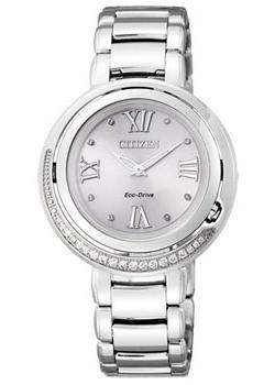 Японские наручные  женские часы Citizen EX1120-53X. Коллекци Eco-Drive