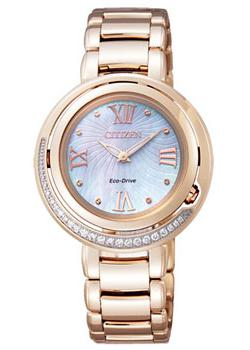 Японские наручные  женские часы Citizen EX1122-58D. Коллекция Eco-Drive
