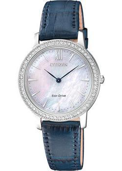 Японские наручные  женские часы Citizen EX1480-15D. Коллекция Eco-Drive