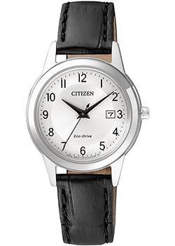 Японские наручные  женские часы Citizen FE1081-08A. Коллекция Eco-Drive