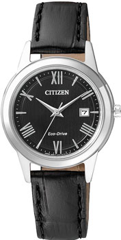 Японские наручные  женские часы Citizen FE1081-08E. Коллекция Eco-Drive