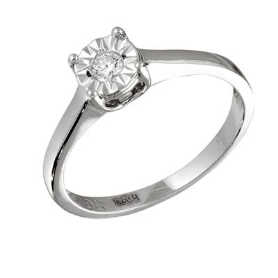 Кольцо с бриллиантами белое золото, арт: R05963 (Цена: 18080 руб)