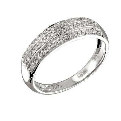 Кольцо с бриллиантами белое золото, арт: R05976 (Цена: 21600 руб)
