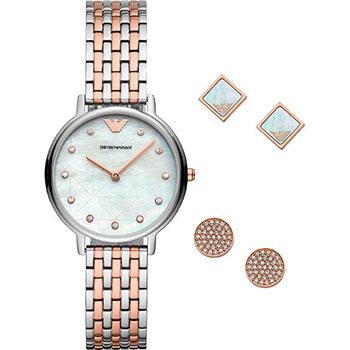 Купить Fashion наручные женские часы Emporio armani AR80019. Коллекция Dress Watch Gift Set