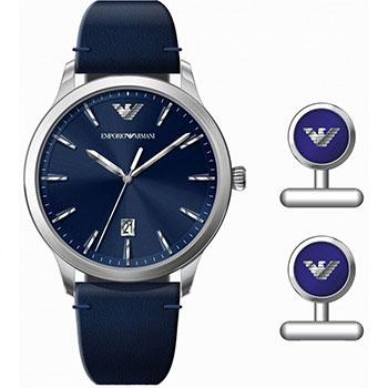 fashion наручные  мужские часы Emporio armani AR80032. Коллекция Dress Watch Gift Set.