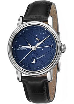 Швейцарские наручные мужские часы Epos 3391.832.20.16.25. Коллекция Emotion