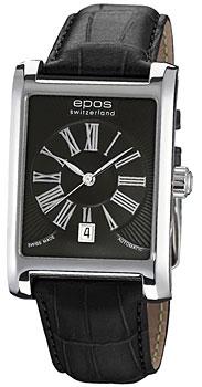 Швейцарские наручные  мужские часы Epos 3399.132.20.25.25. Коллекция Perfection