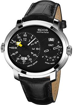 Швейцарские наручные  мужские часы Epos 3400.122.20.35.25. Коллекция Oeuvre d art