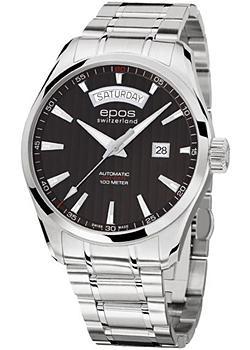 Швейцарские наручные мужские часы Epos 3402.142.20.15.30. Коллекция Passion