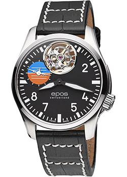 Швейцарские наручные  мужские часы Epos 3434.183.20.35.24. Коллекция Sportive Pilot