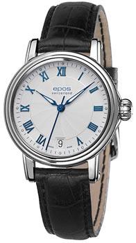Швейцарские наручные  женские часы Epos 4390.152.20.20.15. Коллекция Ladies