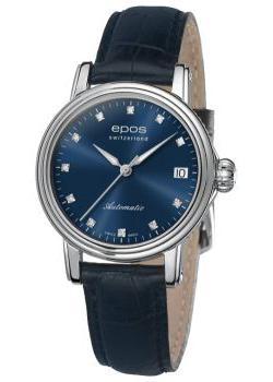 Швейцарские наручные  женские часы Epos 4390.152.20.86.16. Коллекция Ladies
