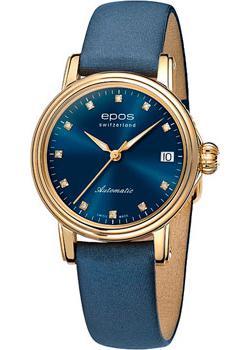 Швейцарские наручные  женские часы Epos 4390.152.22.86.86. Коллекция Ladies