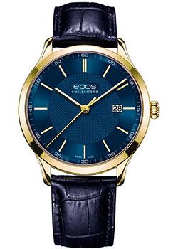 Швейцарские наручные мужские часы Epos 7000.701.22.16.26. Коллекция Quartz фото