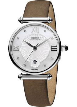 Швейцарские наручные  женские часы Epos 8000.700.20.88.87. Коллекция Quartz
