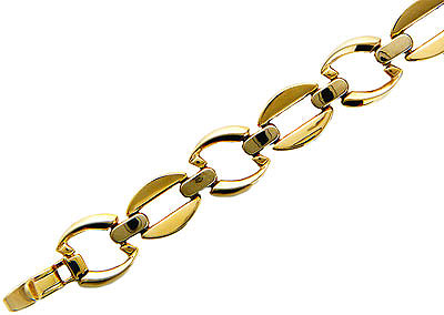 Купить Золотой браслет 01B061149, Браслет средний вес 13.38 г., Комбинированное золото 585 пробы, . Ширина: 12, 7 мм. ., Ювелирное изделие