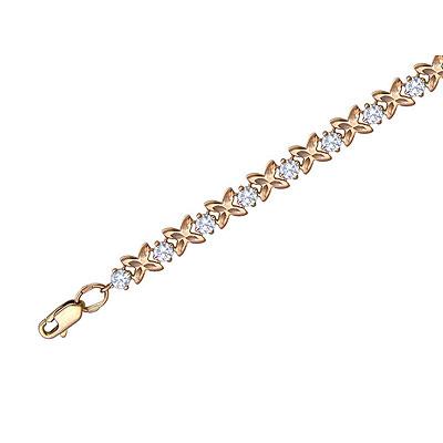 Купить Золотой браслет 01B111288, Браслет. Золото красное 585 пробы. . Ширина: 5 мм.., Ювелирное изделие