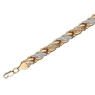 Купить Золотой браслет 01B711330, Браслет. Золото красное 585 пробы. . Ширина: 7, 5 мм.., Ювелирное изделие