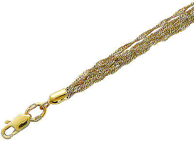 Купить Золотой браслет 01B731134, Браслет средний вес 3.88 г., Желтое золото 585 пробы, Изделие с алмазной обработкой., Ювелирное изделие