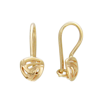Золотые серьги  01C016158