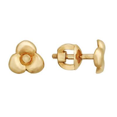 Золотые серьги  01C016610