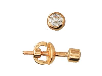 Золотые серьги  01C112289