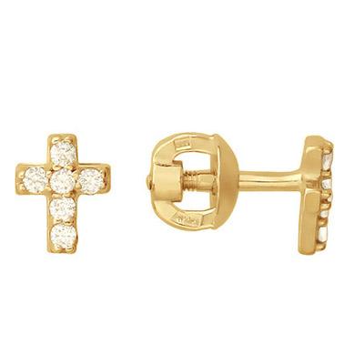 Золотые серьги  01C116484