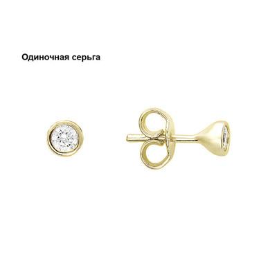 Золотые серьги  01C136024