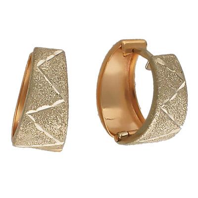 Купить Золотые серьги 01C760425, Комбинированное золото 585 пробы. Средний вес изделия: 2, 35 гр. Без вставок., Ювелирное изделие
