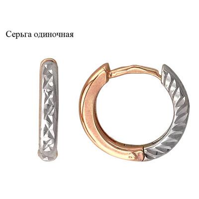 Золотые серьги  01C766189