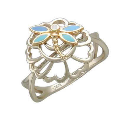 Золотое кольцо 01K066153UJ - Ювелирное изделие - Ювелирное изделиеКольцо...