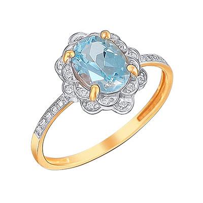 Золотое кольцо 01K3110973-1 фото