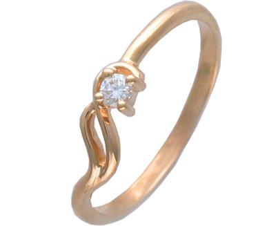 Купить Золотое кольцо 01K613662, Кольцо. Золото 585 пробы. Вставки: Бриллиант ., Ювелирное изделие