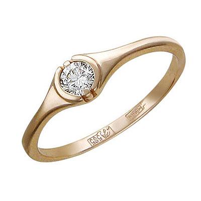 Золотое кольцо 01K615754 фото