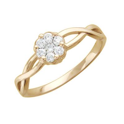 Кольцо, Золото красное 585. - Золотое кольцо  01K616320