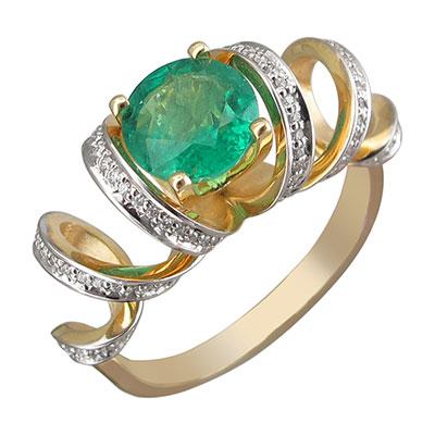 Золотое кольцо 01K646209-1 фото